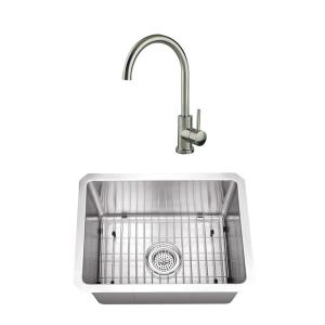 Cahaba Undermount Stainless Steel 32 in. Zero Radius Corner Single on