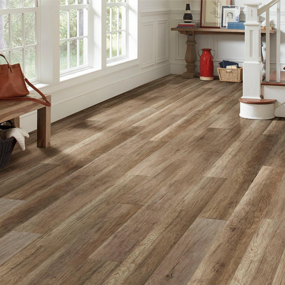 Lifeproof Greystone Oak Water Resistant 12 Mm Laminate Flooring 16 80 Sq Ft Case