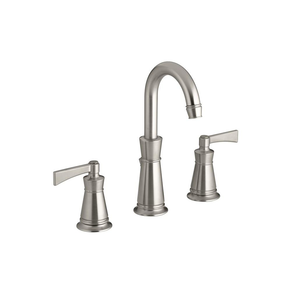 KOHLER Archer 8 in. 2-Handle Low-Arc Bathroom Faucet in Vibrant Brushed Nickel DISCONTINUED-DISCONTINUED