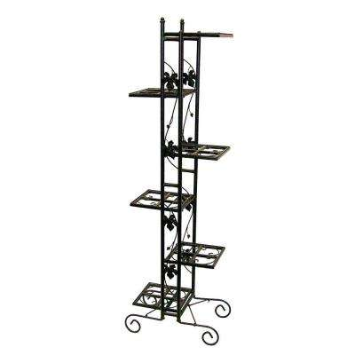 6-Level Black Plant Stand