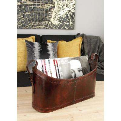 Matte Dark Brown Freestanding Magazine Holder