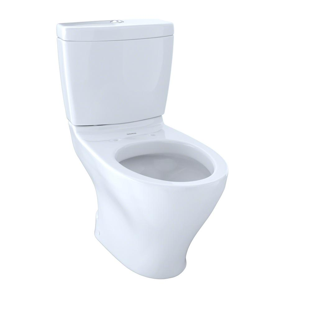 TOTO Aquia II 2-Piece 0.9/1.6 GPF Dual Flush Elongated Toilet in Cotton White