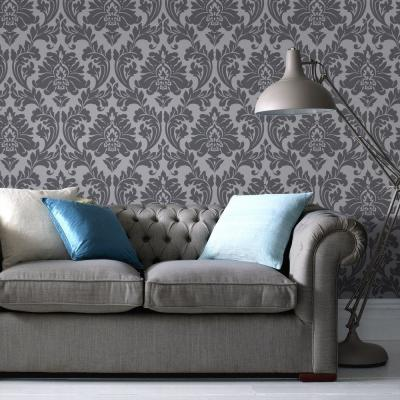 Majestic Grey Removable Wallpaper