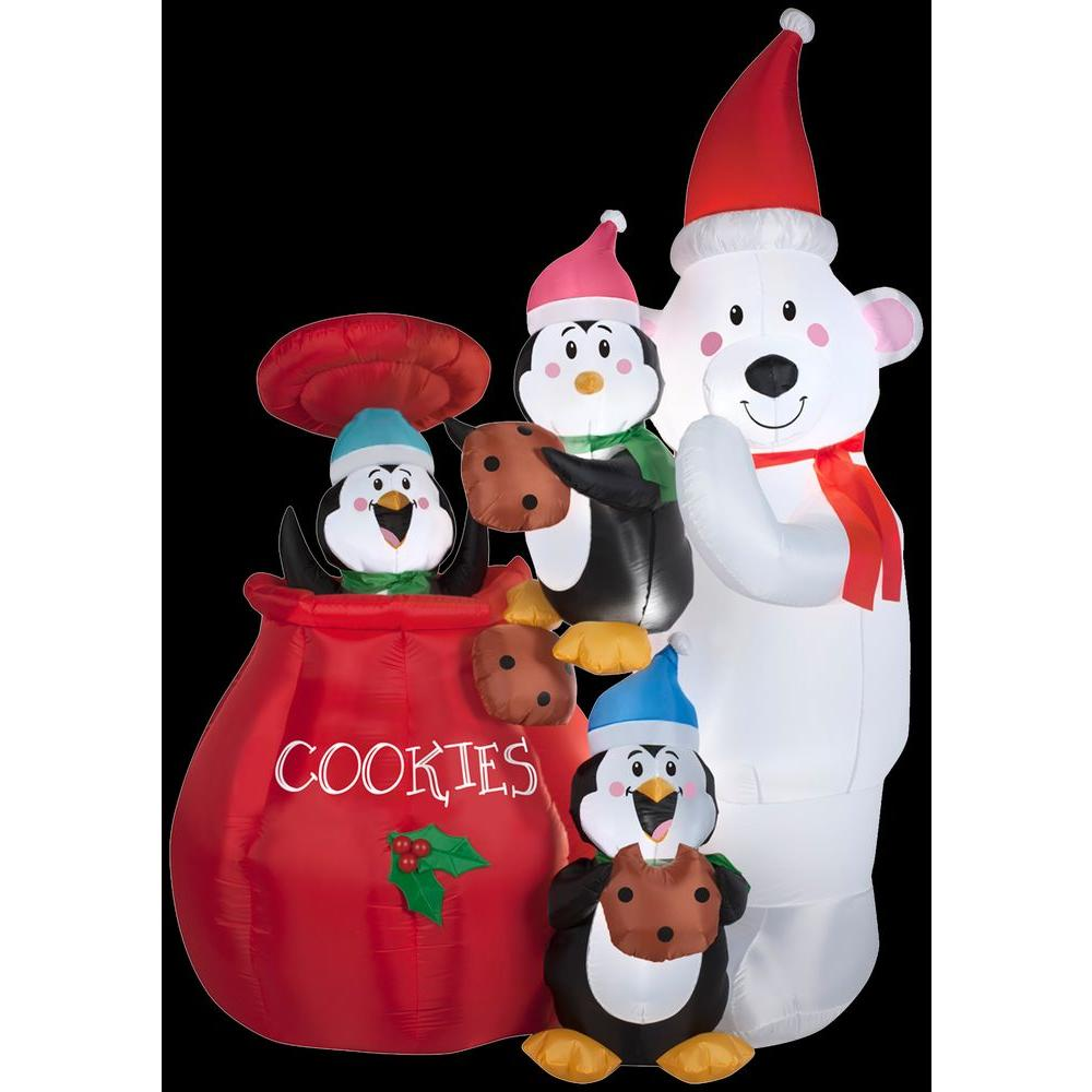Gemmy 6.5 ft. H Inflatable Animated Cookie Jar and Friends-35586X ...