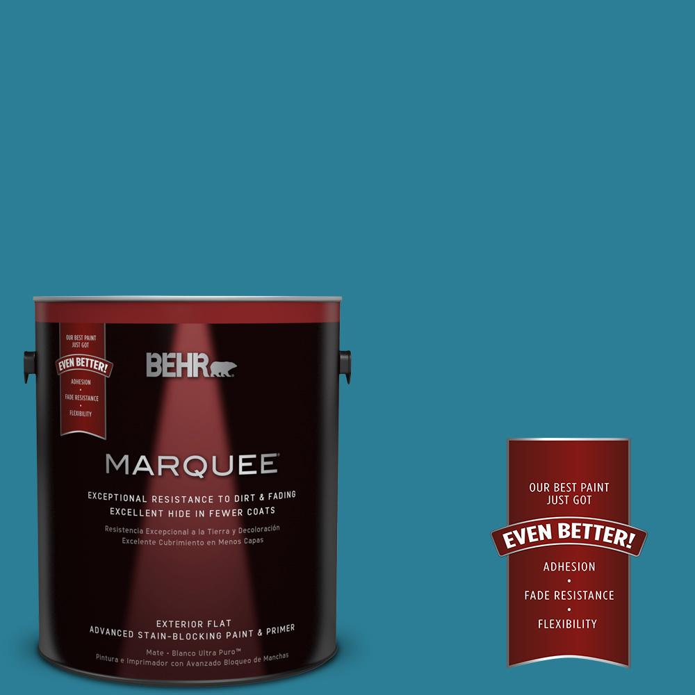 BEHR MARQUEE 1-gal. #M480-6 Valley of Glaciers Flat Exterior Paint