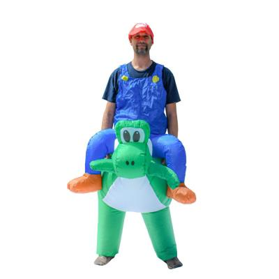 1- Size Fits All Unisex Mario Riding Yoshi Adult Halloween Costume