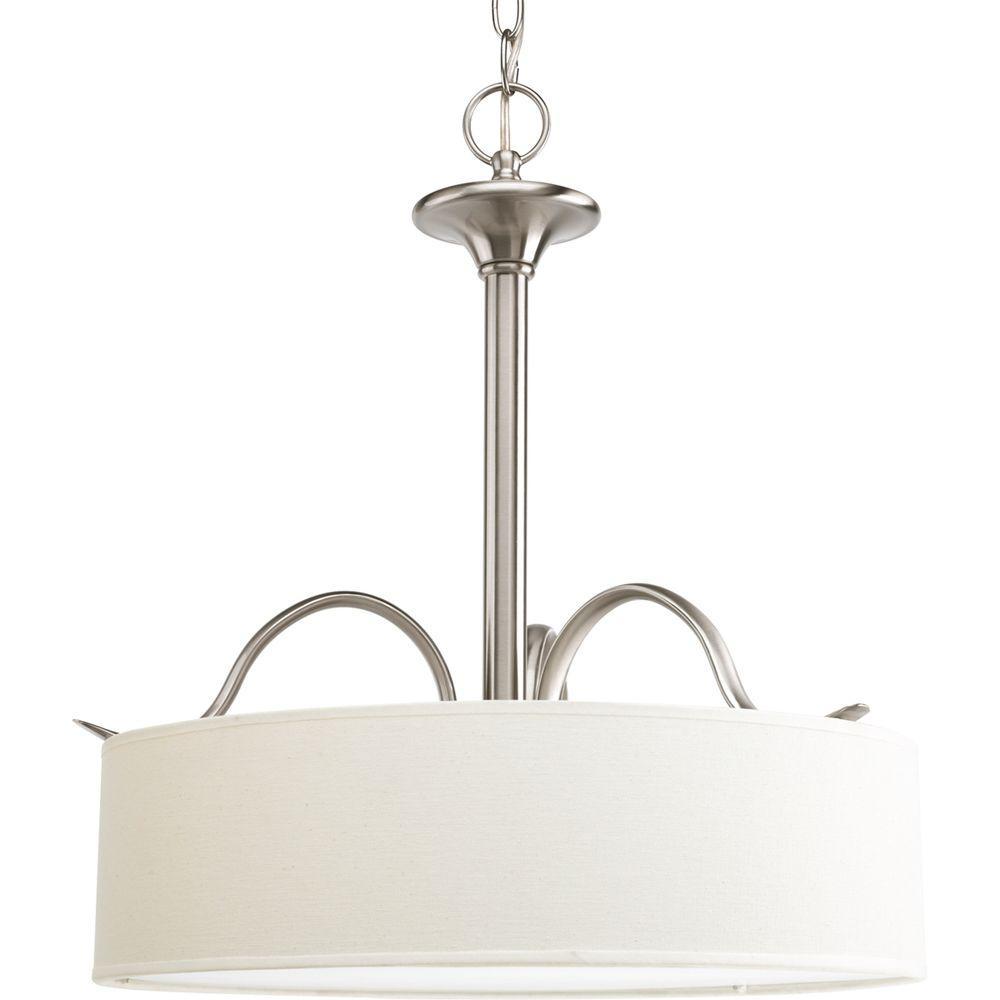 Progress Lighting Inspire Collection 3-Light Brushed Nickel Pendant