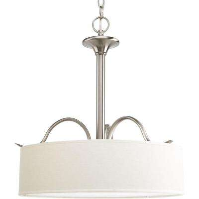 Inspire Collection 3-Light Brushed Nickel Pendant