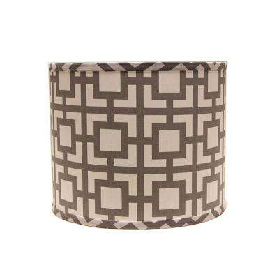 14 in. x 13 in. Gray Lamp Shade