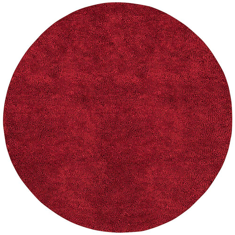 Cambridge Red 10 ft. x 10 ft. Round Area Rug