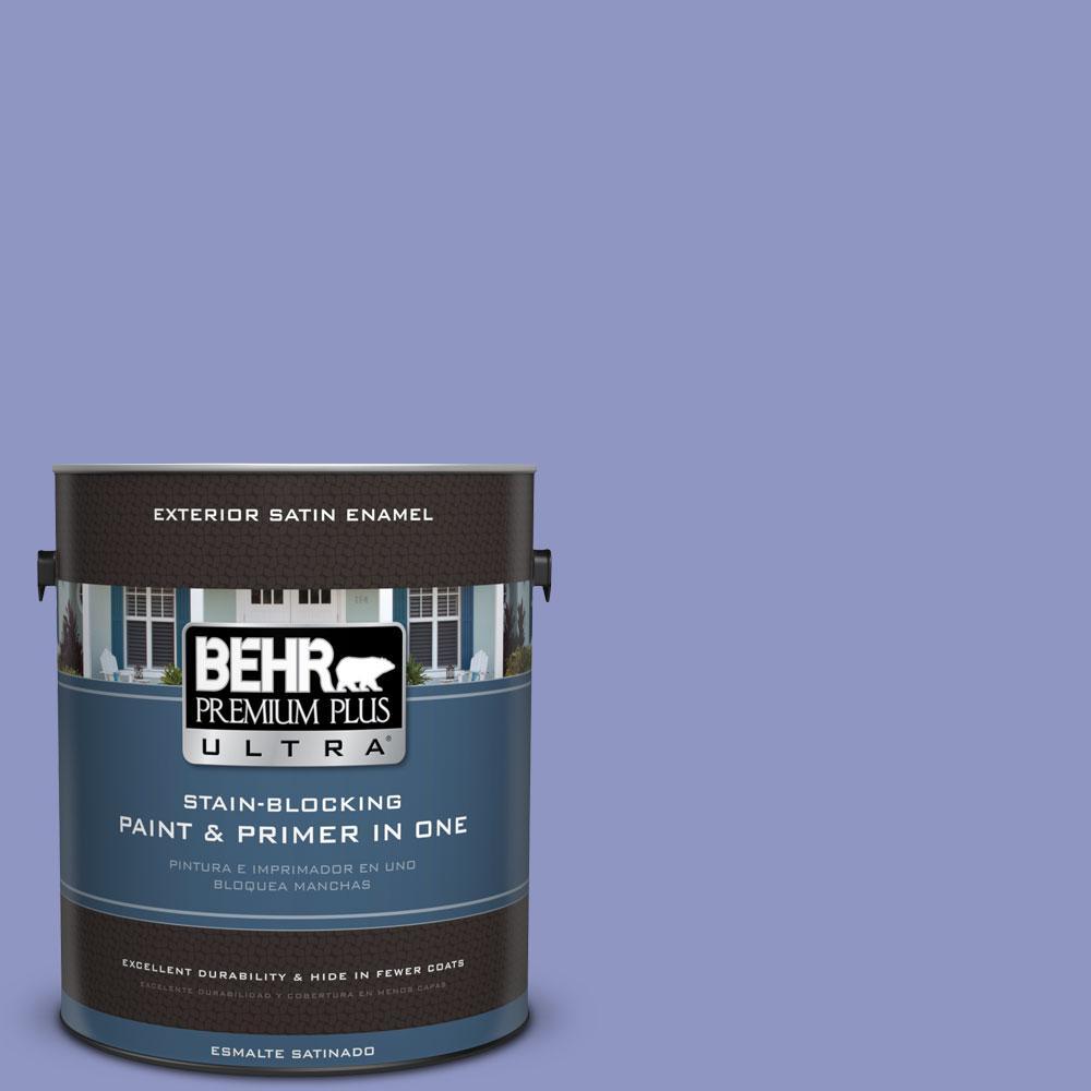 BEHR Premium Plus Ultra 1-gal. #610B-4 Intuitive Satin Enamel Exterior Paint