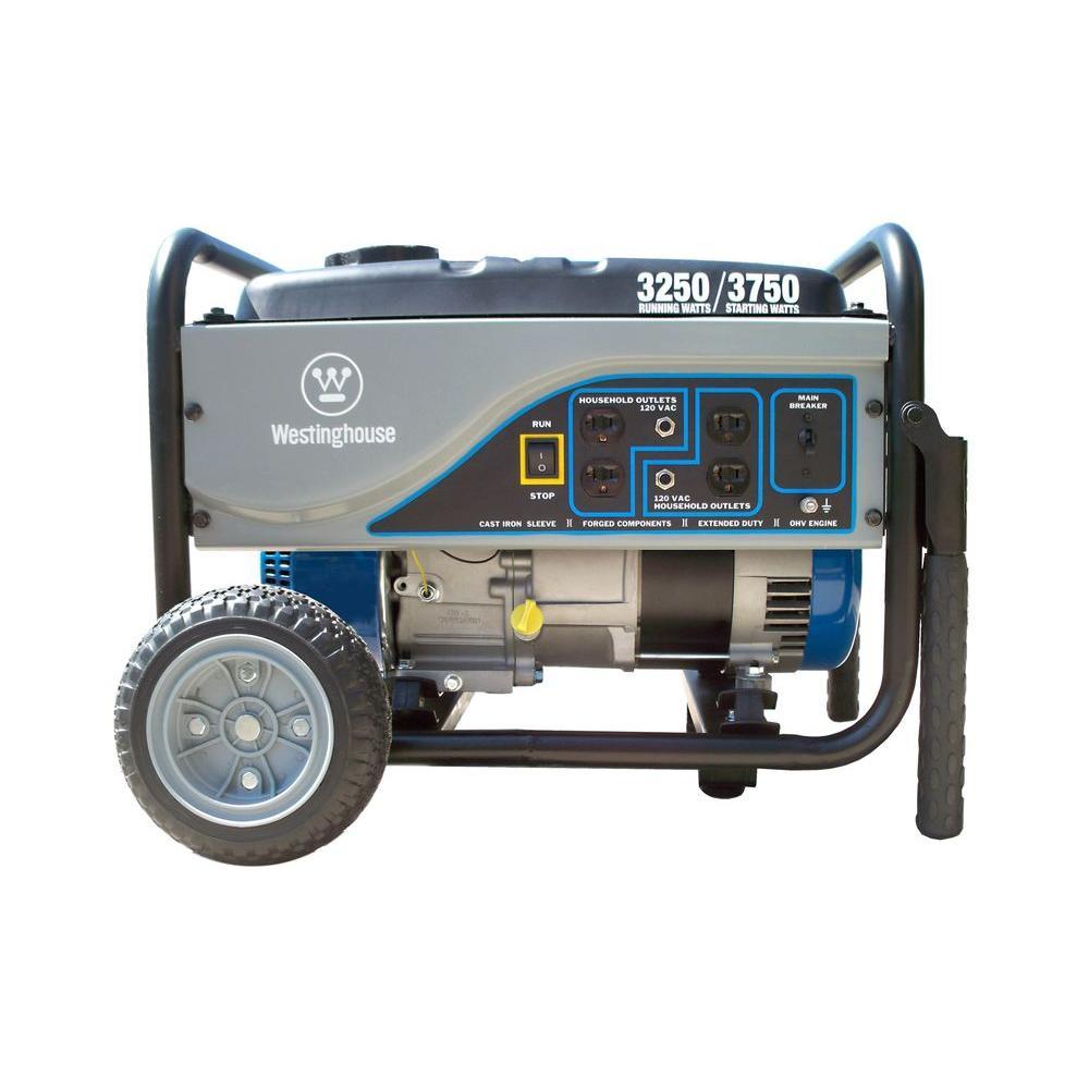 Westinghouse 3,250-Watt Gasoline Powered Portable Generator