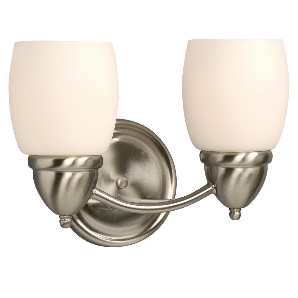 Filament Design Negron 2-Light Brushed Nickel Incandescent Bath Vanity