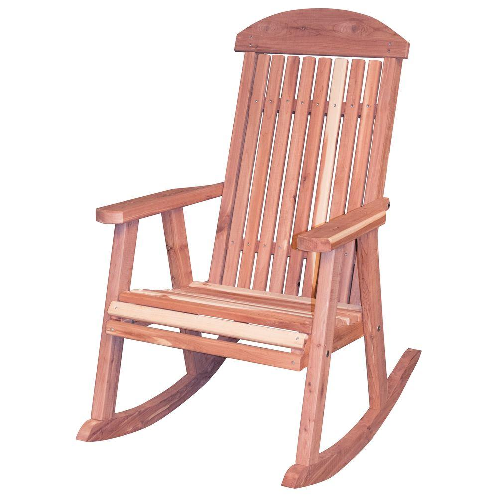 Amerihome Amish Made Unfinished Patio Rocking Chair 801736 The