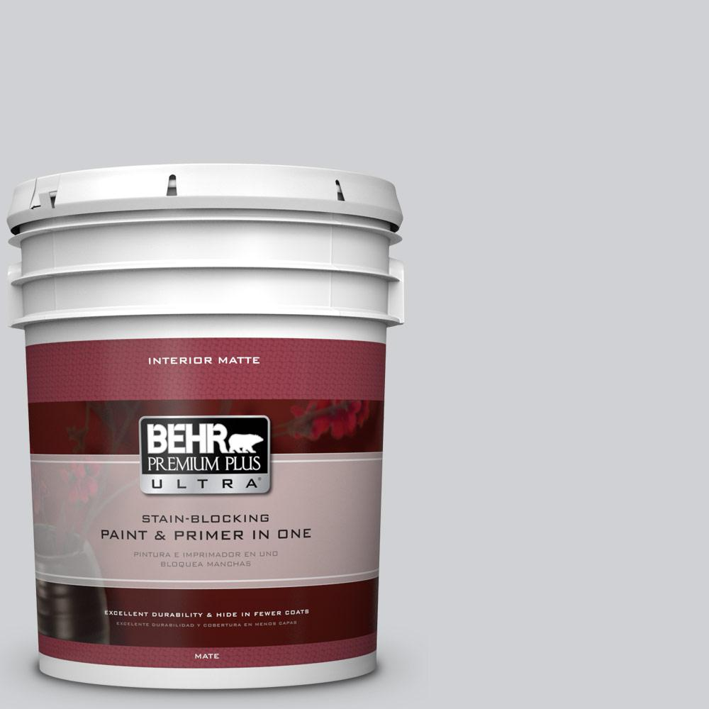 BEHR Premium Plus Ultra 5 gal. #N530-2 Double Click Matte Interior Paint