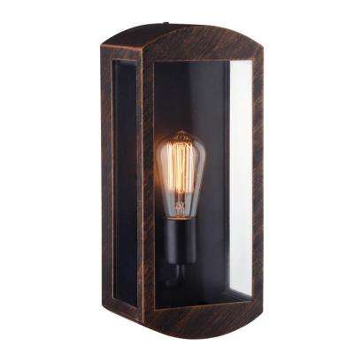 Thomas 1-Light Bronze Outdoor Wall Mount Sconce