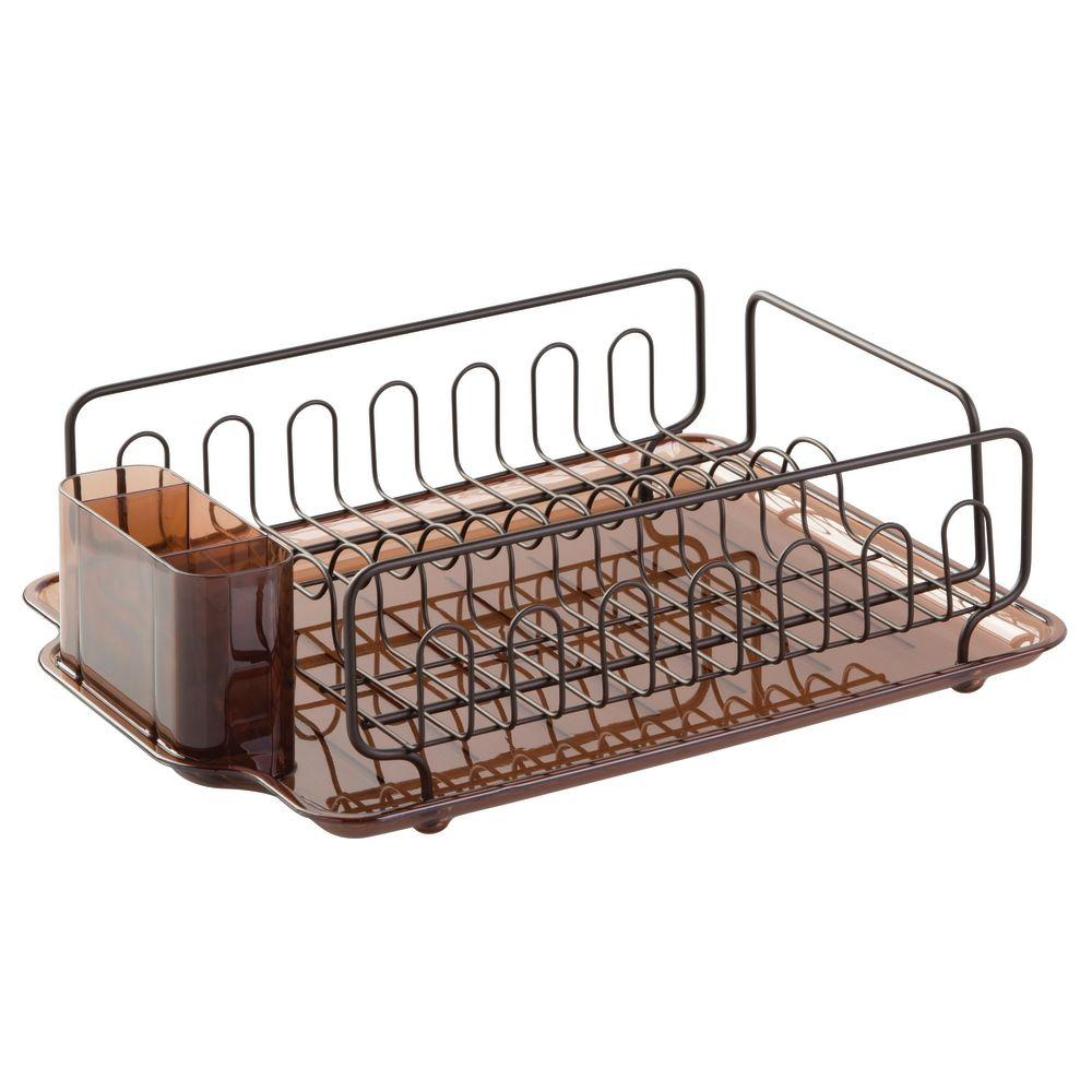 interDesign Forma Lupe Dish Drainer in Amber Bronze-68982 - The Home ... 7b6f5f973541