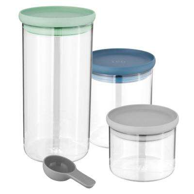 Leo 3-Piece Glass Food Container Set