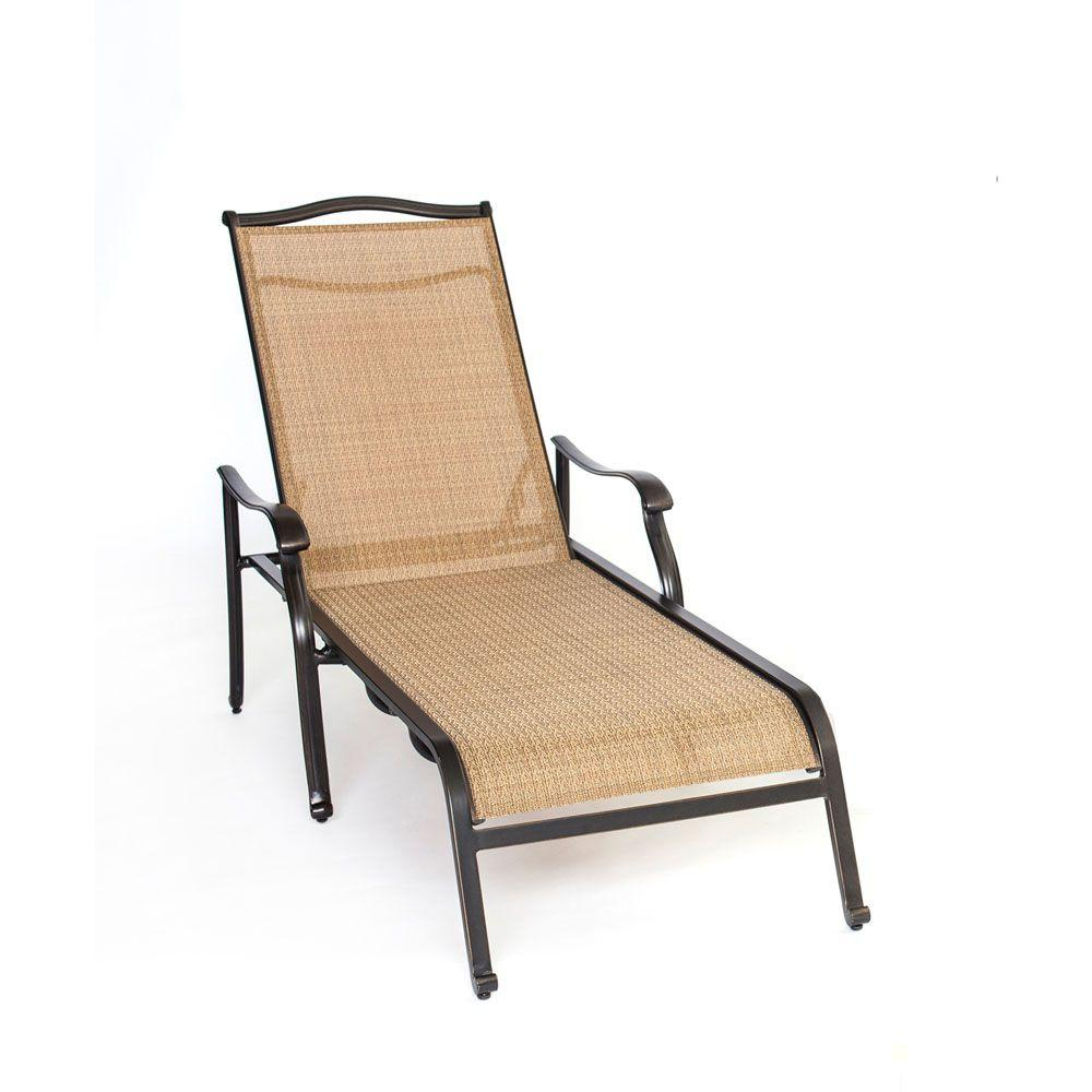 Hanover monaco patio chaise lounge chair monchs the home for Chaise lounge bench