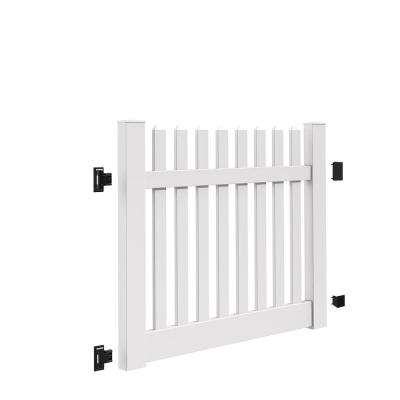 Kettle Straight 5 ft. W x 4 ft. H White Vinyl Un-Assembled Fence Gate