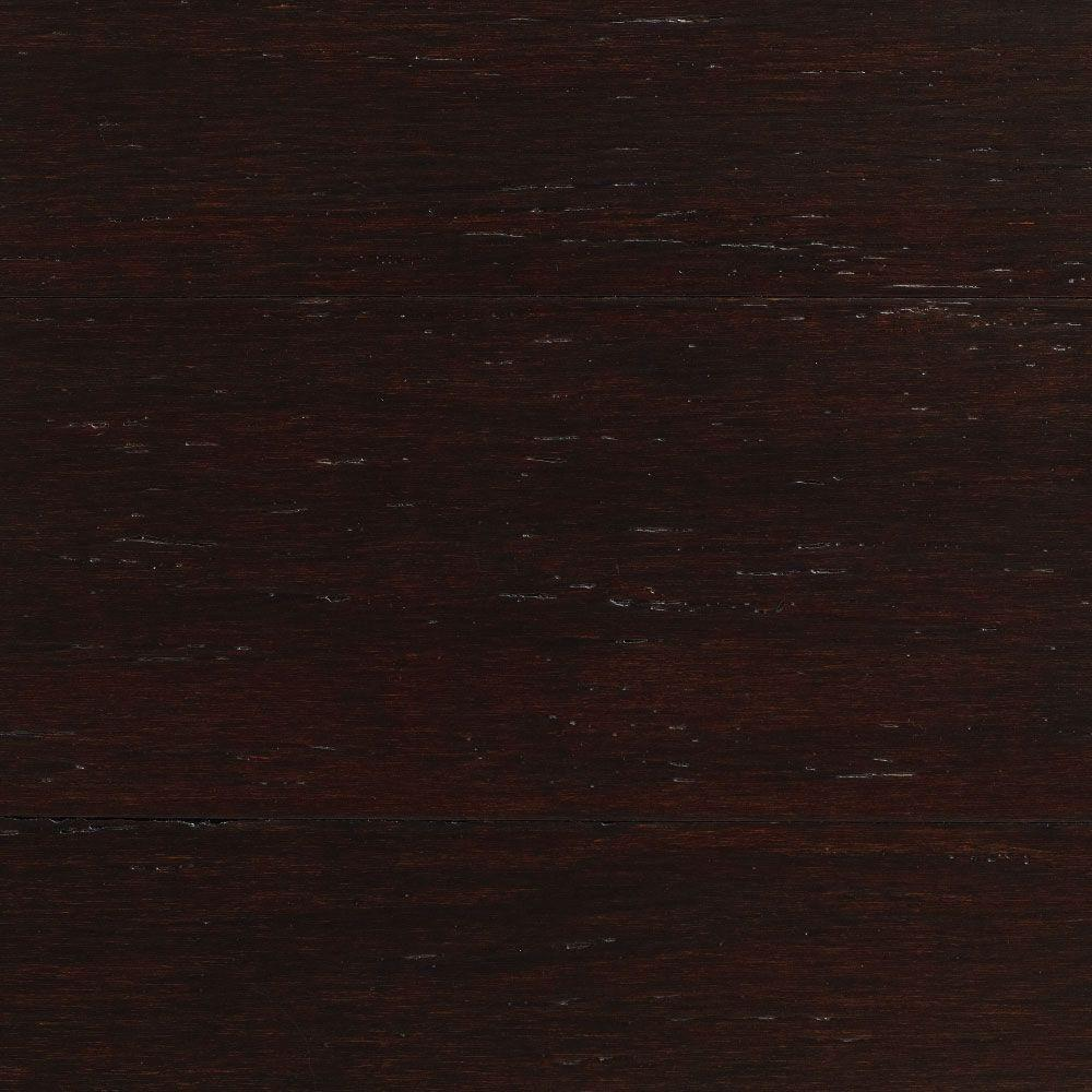 null Take Home Sample - Strand Woven Warm Espresso Click Lock Engineered Bamboo Flooring - 5 in. x 7 in.