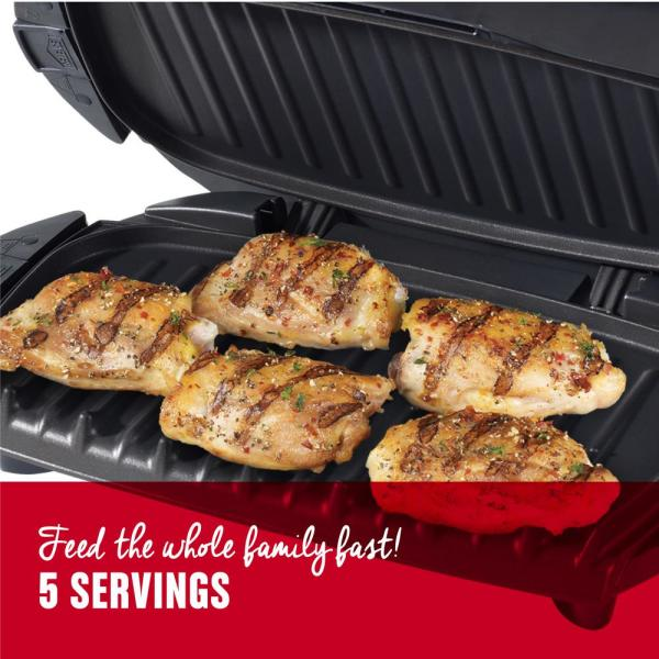 George Foreman 5-Serving Removable Plate Electric Indoor Grill and ...