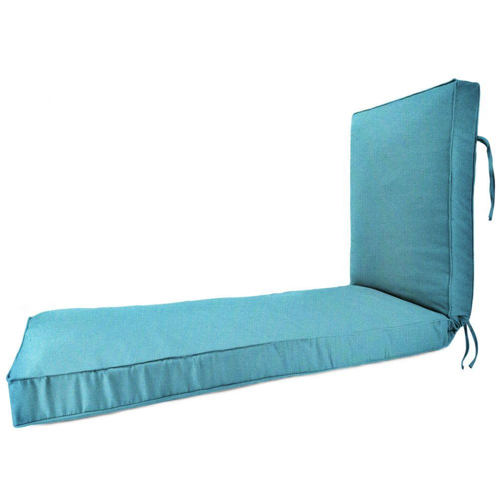 23 x 75 Outdoor Chaise Lounge Cushion in Sunbrella Aruba