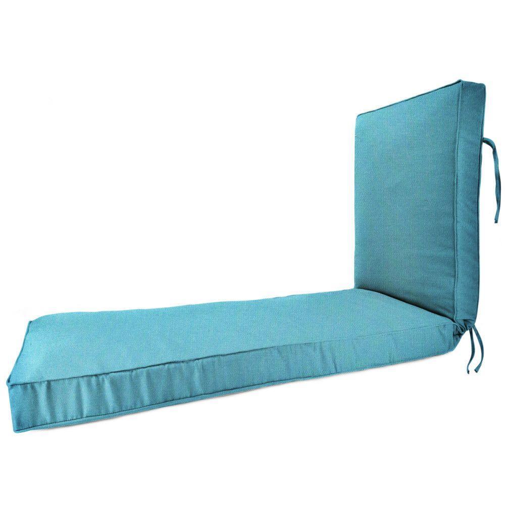 23 x 75 Outdoor Chaise Lounge Cushion in Sunbrella Aruba