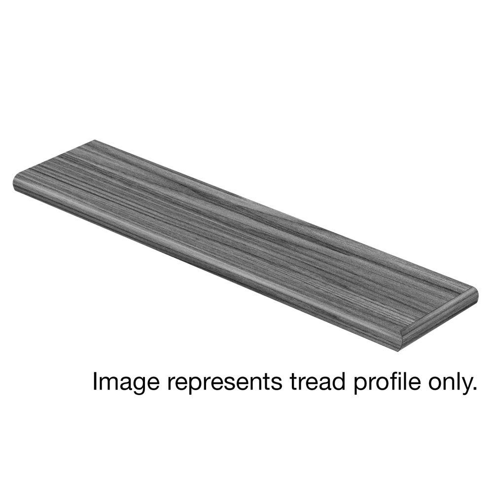 Cap A Tread Aqua Concrete 94 in. Length x 12-1/8 in. Deep x 1-11/16 in. Height Vinyl Overlay Right Return to Cover Stairs 1 in. T