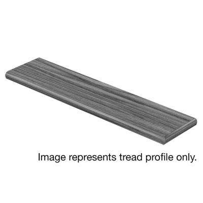 Crestwood Gray/Courtship Grey Oak 94 in. L x 12-1/8 in. W x 1-11/16 in. T Laminate Right Return for Stairs 1 in. T