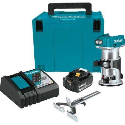 18-Volt LXT Lithium-Ion Brushless Cordless Compact Router Fixed Base Starter Kit (5.0 Ah)