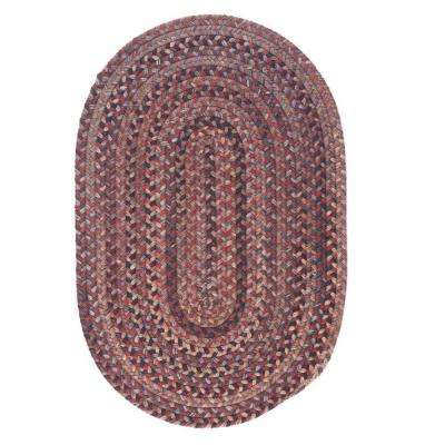 Cage Rhubarb 4 ft. x 6 ft. Oval Braided Area Rug