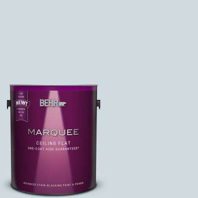 1 gal. #MQ3-57 Tinted to Siberian Ice One-Coat Hide Flat Interior Ceiling Paint and Primer in One