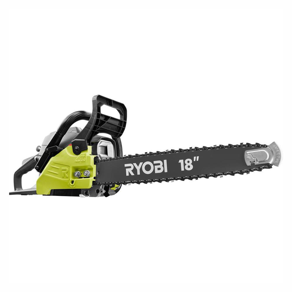 18 in. 38cc 2-Cycle Gas Chainsaw with Heavy Duty Case