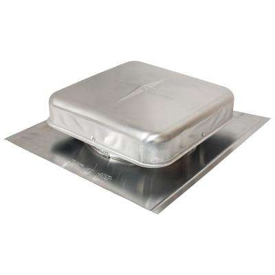 50 sq. in. NFA Aluminum Square-Top Roof Louver Static Vent in Mill (Carton of 12)
