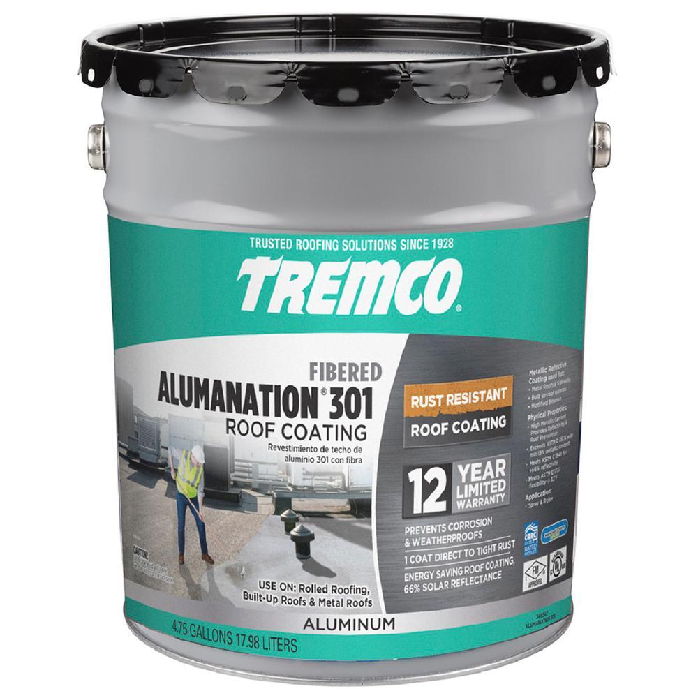 Tremco 4 75 Gal Alumination 301 Fibered Aluminum Roof
