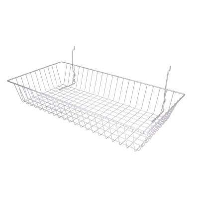 24 in. W x 12 in. D x 4 in. H Chrome Shallow Basket