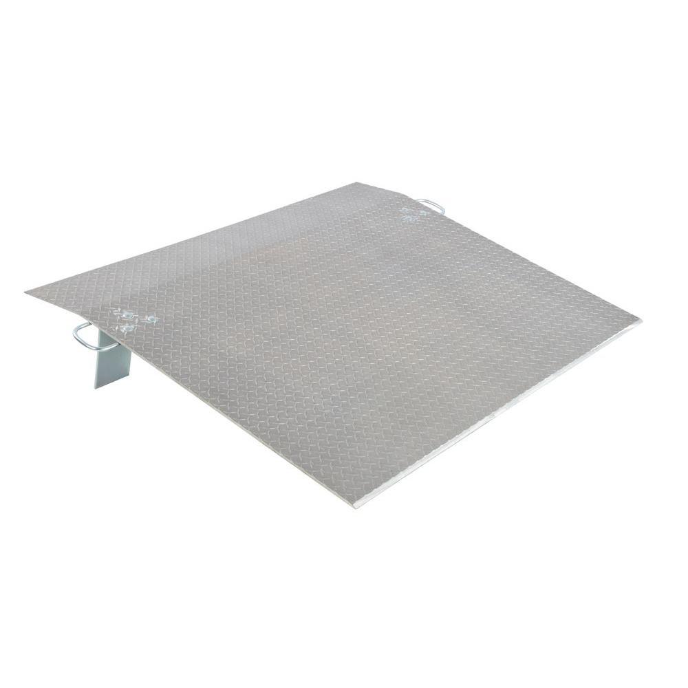 Vestil 2,400 lb. 60 in. x 54 in. x 0.38 in. Aluminum Economy Dockplate
