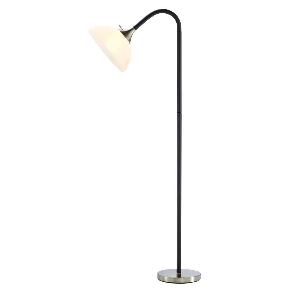 Beau Black Foam Gooseneck Floor Lamp