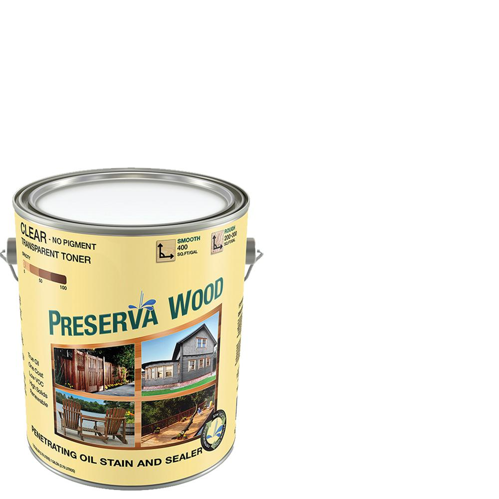 Preserva Wood 1 gal. Oil-Based Clear Penetrating Stain and Sealer