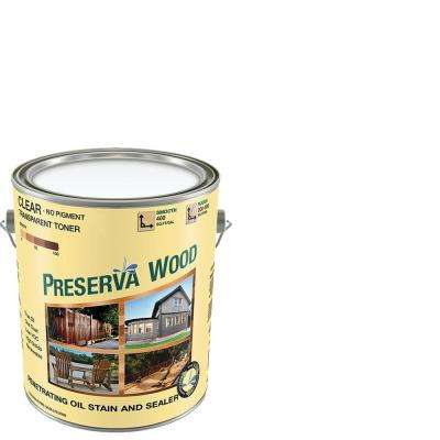 1 gal. Oil-Based Clear Penetrating Exterior Stain and Sealer