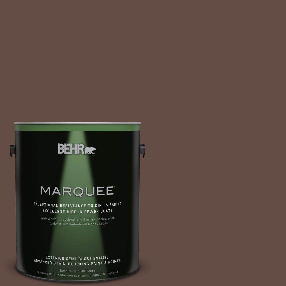 BEHR MARQUEE 1-gal. #PPU3-20 Cinnabark Semi-Gloss Enamel Exterior Paint