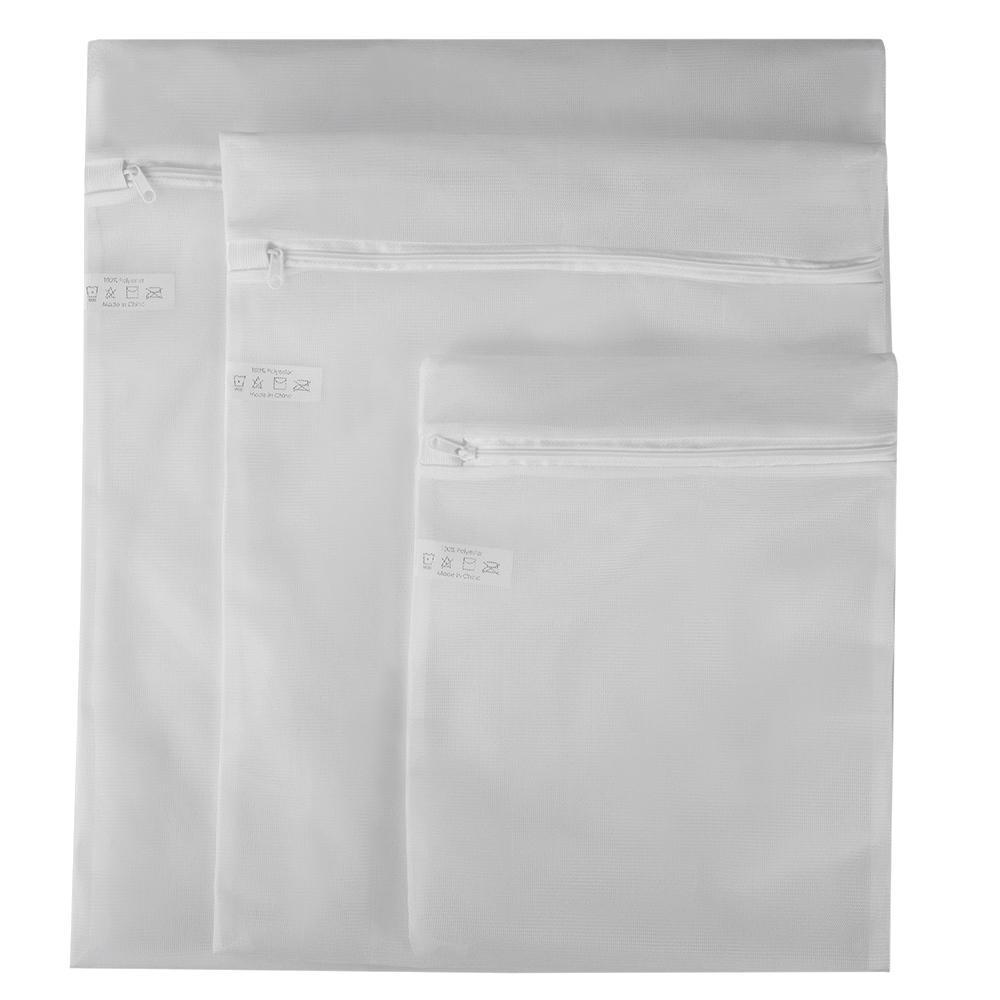 Sunbeam White Micro Mesh Wash Bag 3 Piece