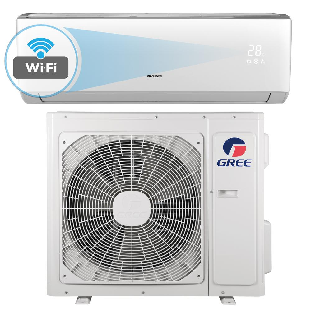GREE Livo 18,000 BTU 1.5 Ton Wi Fi Programmable Ductless Mini Split Air  Conditioner With