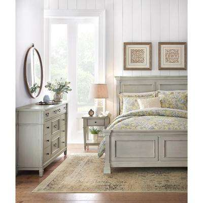 Bridgeport Antique Grey King Bed