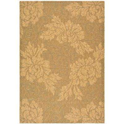 Courtyard Gold/Natural 7 ft. x 10 ft. Indoor/Outdoor Area Rug