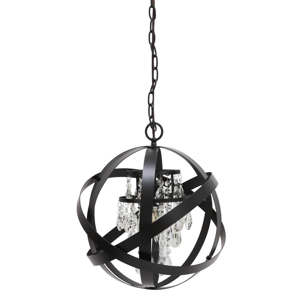 Mika 1-Light Black Pendant