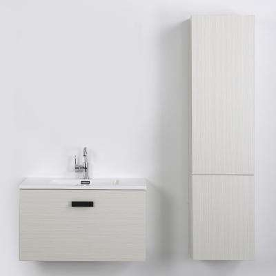 31.5 in. W x 18.1 in. H Bath Vanity in Gray with Resin Vanity Top in White with White Basin