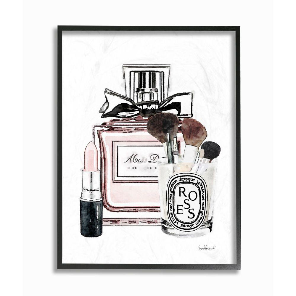 Stupell Industries Fashion Designer Makeup Perfume Lipstick Pink Watercolor By Amanda Greenwood Framed Abstract Wall Art 20 In X 16 In Agp 245 Fr 16x20 The Home Depot