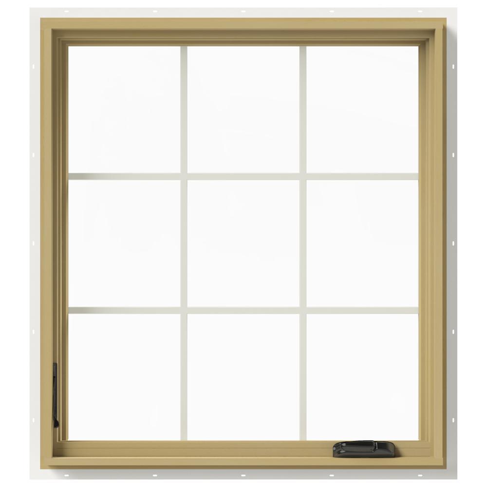 36 in. x 40 in. W-2500 Left-Hand Casement Aluminum Clad Wood Window